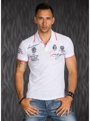 Polo Shirt met Korte Mouwen & Borduursel Wit
