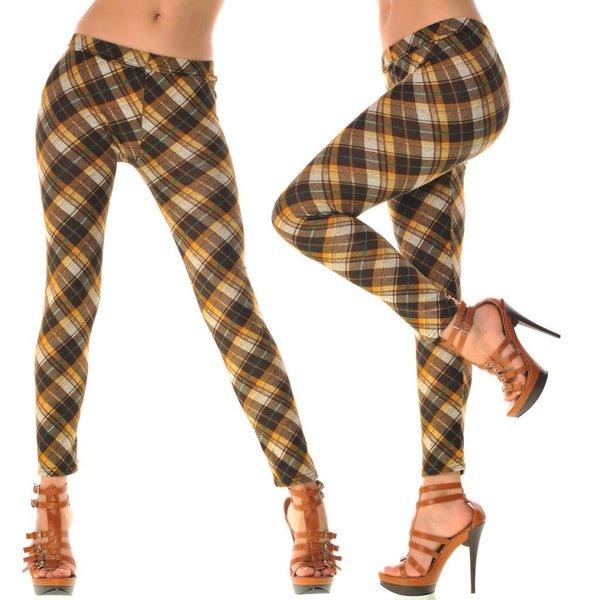 Fashion Legging met Leuke Print Bruin