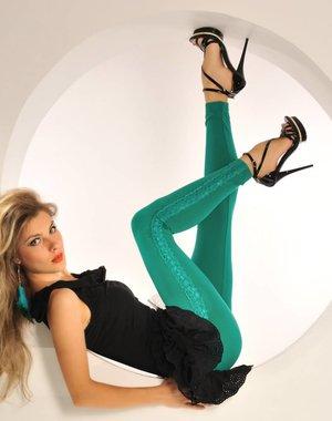 SeXy Legging met Kanten Zijkanten