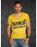 Getailleerde T-shirt met Grote Print Senf