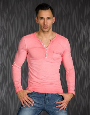 Shirt met Lange Mouwen & Knoopsluiting