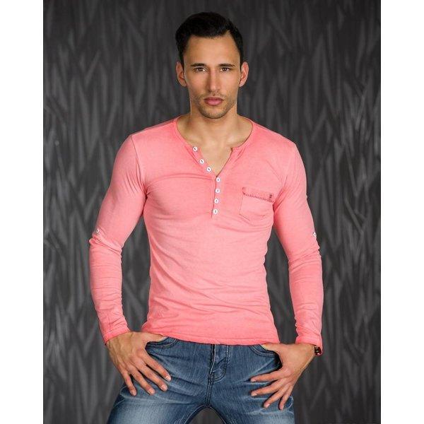 Shirt met Lange Mouwen & Knoopsluiting Coral