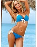 Hot Push-Up Halter Beugel Bikini Blauw