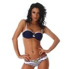 Push-Up Trendy Bikini Set Marine Blauw