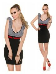 Nauwaansluitende Fashion Mini Jurk Zwart
