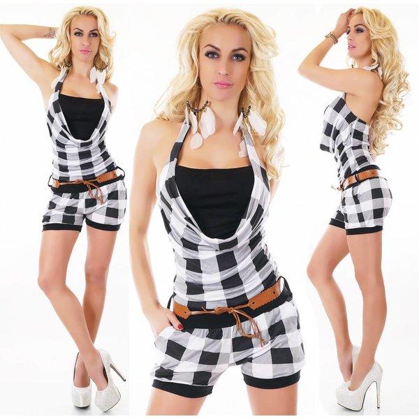 Neckholder Fashion Playsuit Zwart