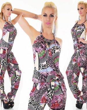 Neckholder Lange Jumpsuit Pink