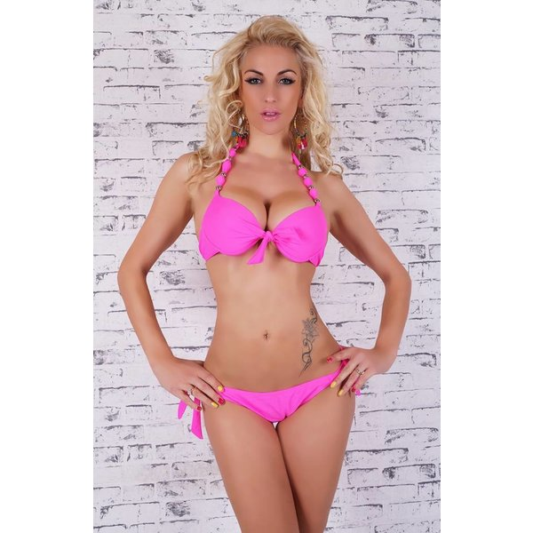 Push-Up Trendy Bikini Set Pink