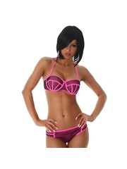 Neckholder Trendy Bikini Set Neon Roos