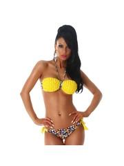 Neckholder Bikini Set Multicolor / Geel