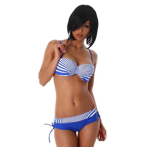 Push-Up Trendy Bikini Set Blauw