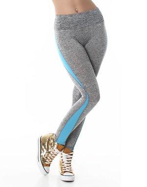 Sport Legging Turquoise / Grijs