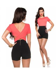 Korte Fashion Playsuit Coral