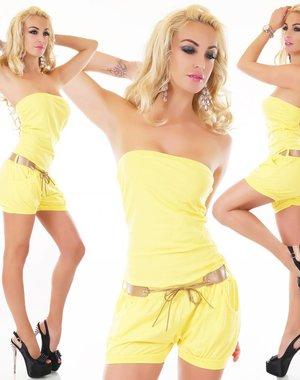 Strapless Korte Fashion Playsuit Geel