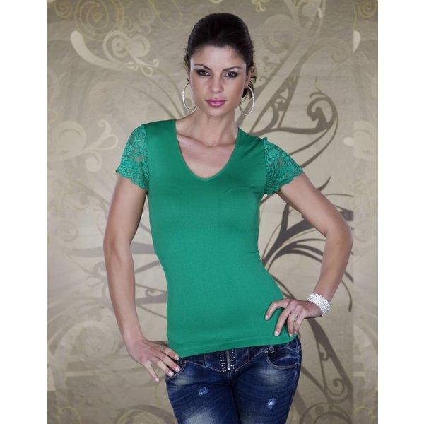 Fashion Topje met Korte Mouwen Groen