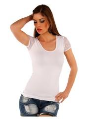 Fashion Topje met Korte Mouwen Wit