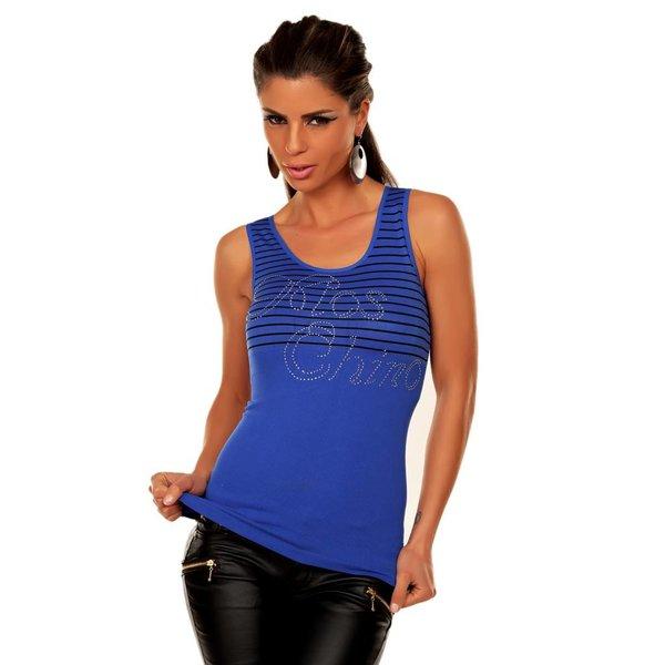 Fashion Zomer Topje Royal Blauw