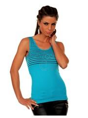 Fashion Zomer Topje Turquoise Blauw