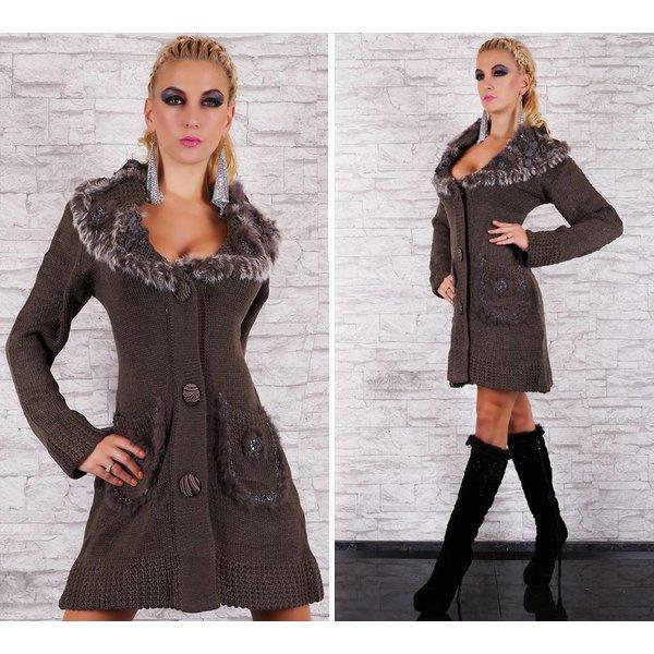 Lange Fashion Cardigan Bruin