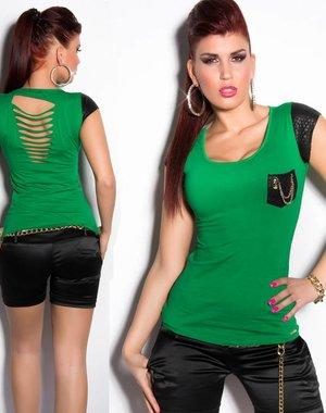 Fashion Topje met Reptile Look Groen