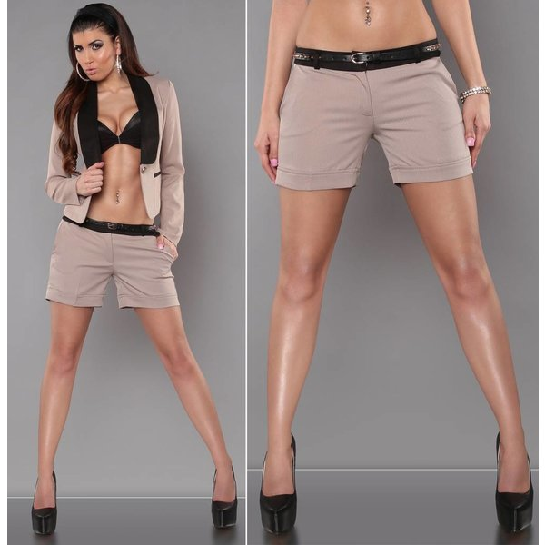 Fashion Short met Riem Beige