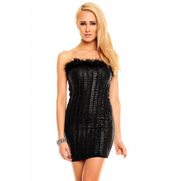 Strapless Fashion Mini Jurk Zwart