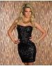 Strapless Fashion Feestjurk Zwart