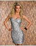 Strapless Fashion Feestjurk Zilver