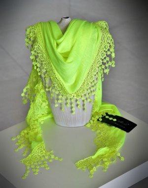 Soepelzachte Sjaal Neon Geel