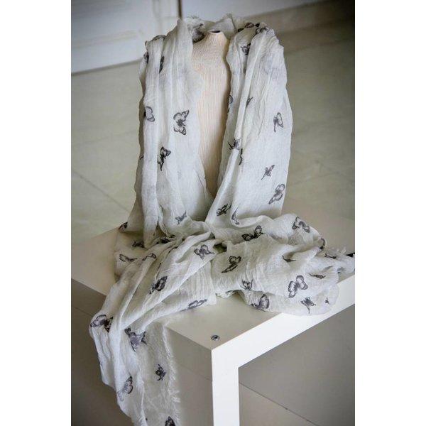 Soepelzachte Sjaal Creme