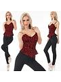 Lange Fashion Jumpsuit Rood / Zwart