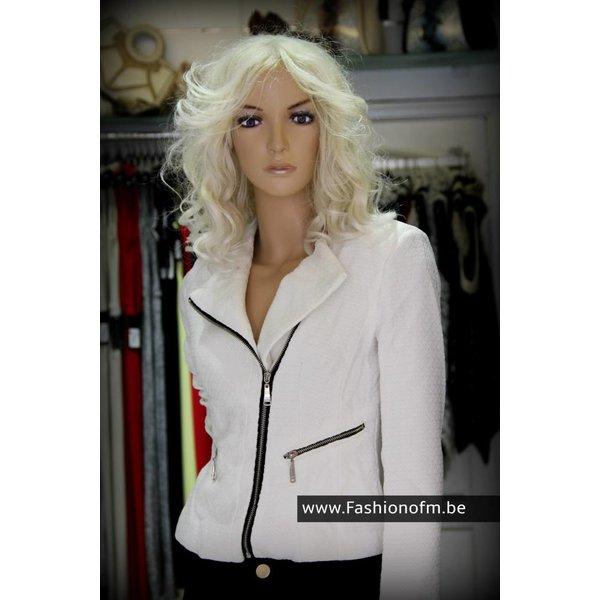 Elegante Witte Jas met voering