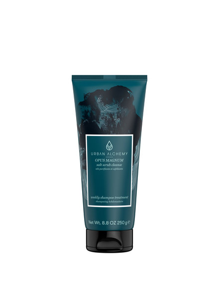 URBAN ALCHEMY OPUS MAGNUM salt scrub cleanse šampon