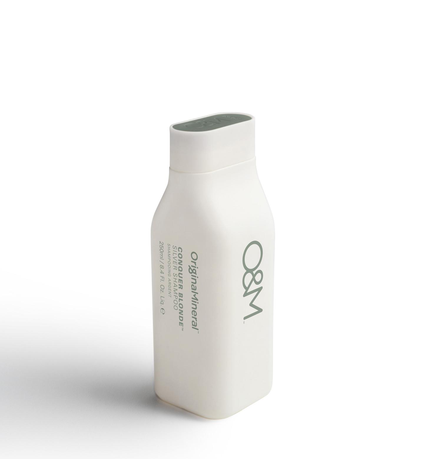 O&M - Original Mineral O&M Conquer Blonde Silver Shampooing pour cheveux blonds argentés - 250ml