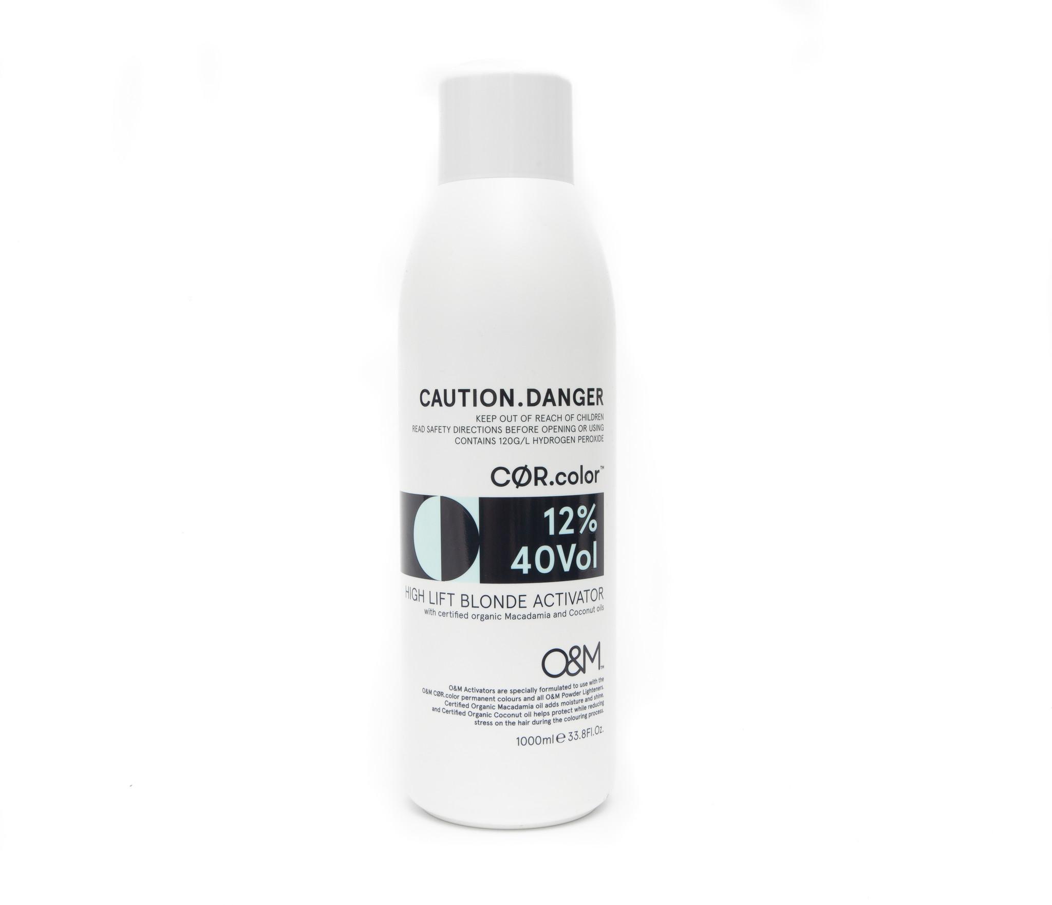 O&M - Original Mineral O&M CØR.COLOR High Lift Blonde 40 Vol - 12% - 1000 ml