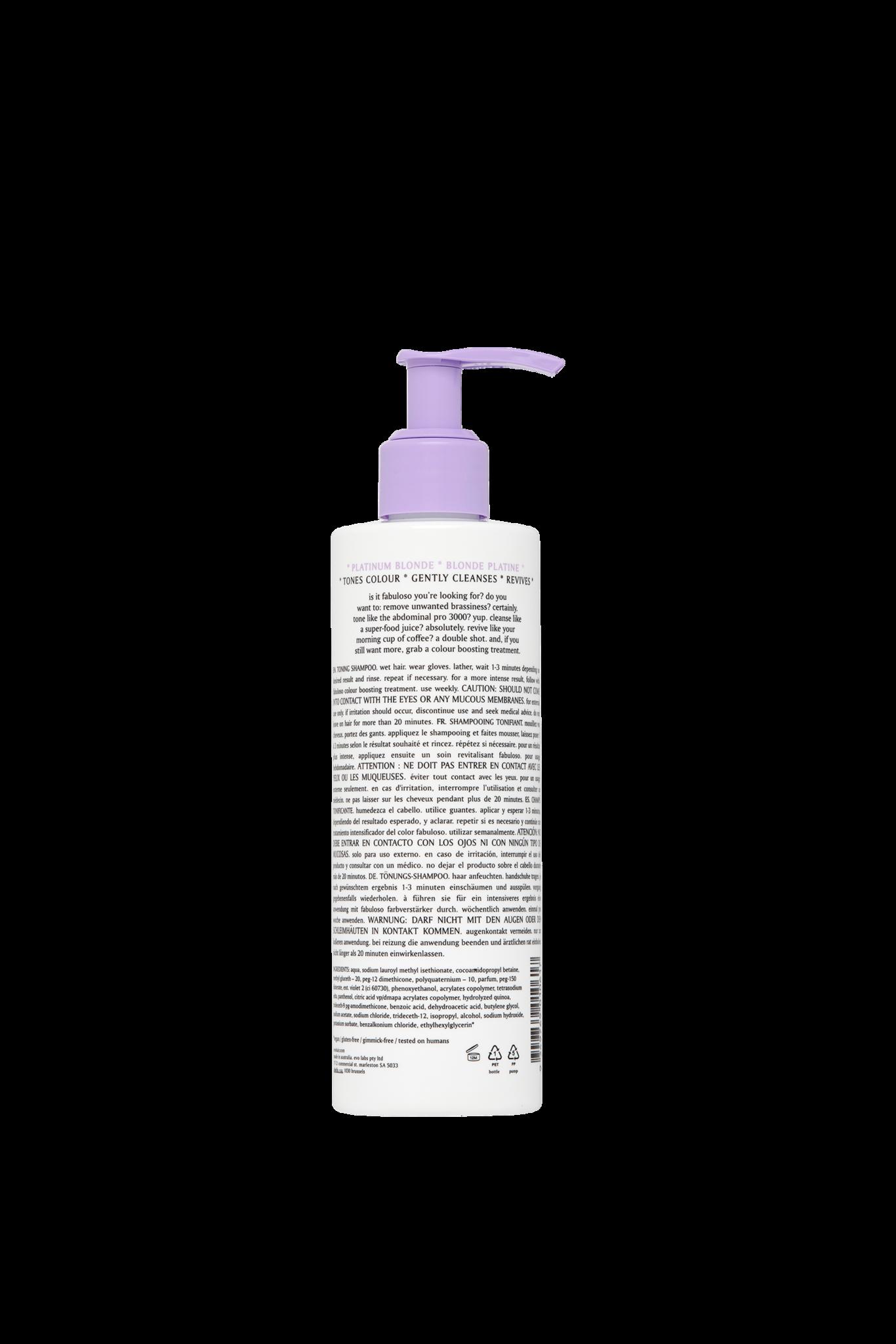 EVO evo Fabuloso Shampooing Tonifiant Platinum Blonde 250 ml