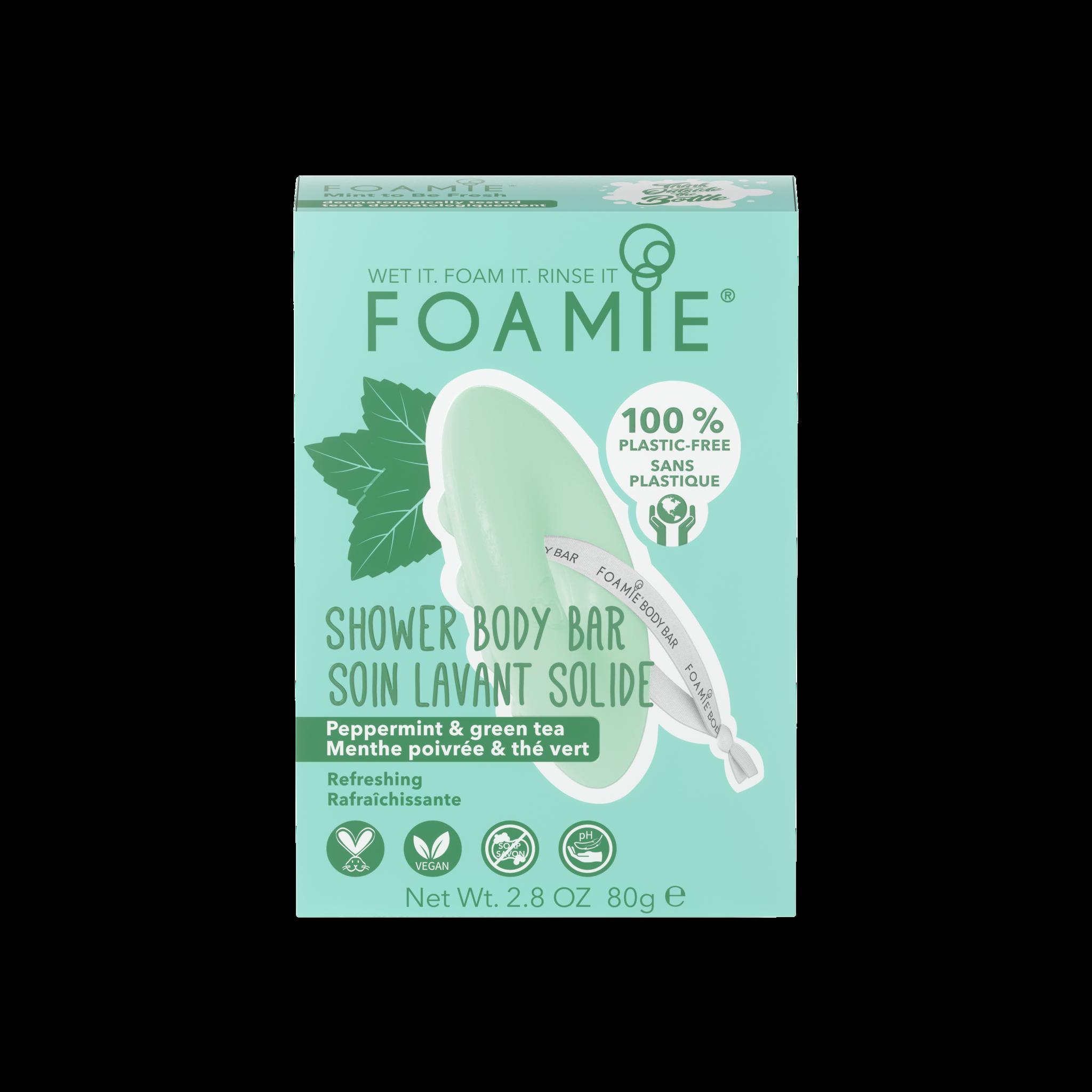 Foamie Foamie Lavant Corps Solide 2-en-1 Menthe Poivrée et Matcha