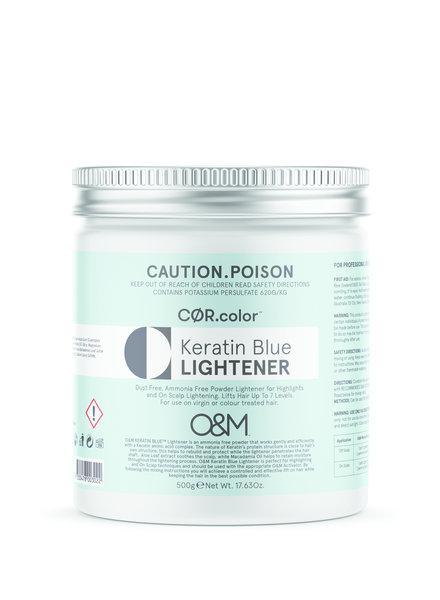 O&M - Original Mineral O&M Keratin Blue Lightener - Poudre Éclaircissant Bleu 500g