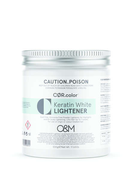 O&M - Original Mineral O&M Keratin White Lightener - Poudre Éclaircissant Blanche 500g