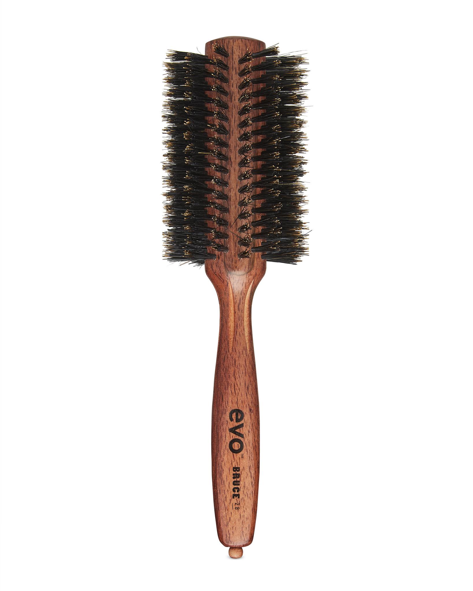 EVO Brosse BRUCE ronde à poils de sanglier naturels 28 mm