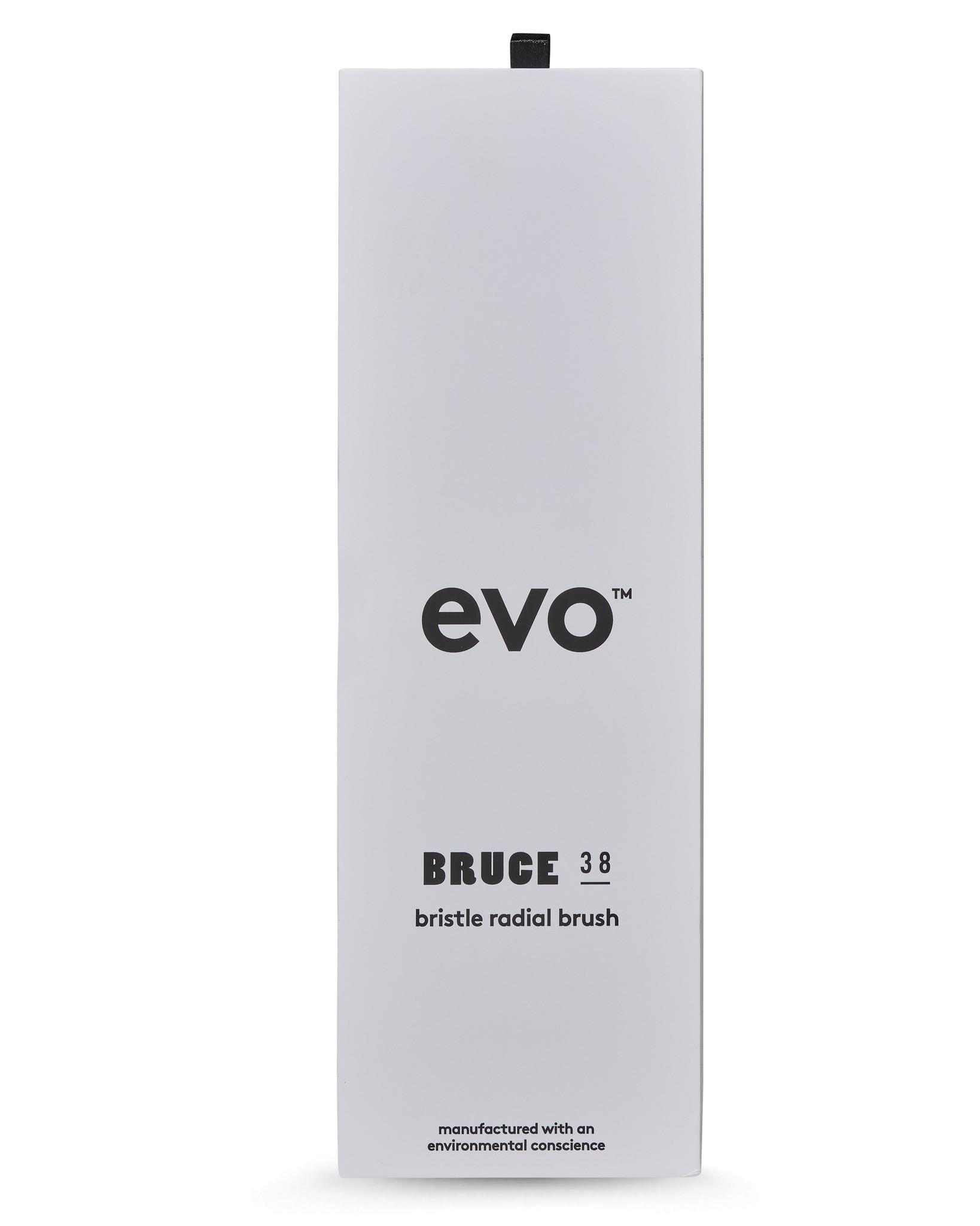 EVO Brosse BRUCE ronde à poils de sanglier naturels 38mm