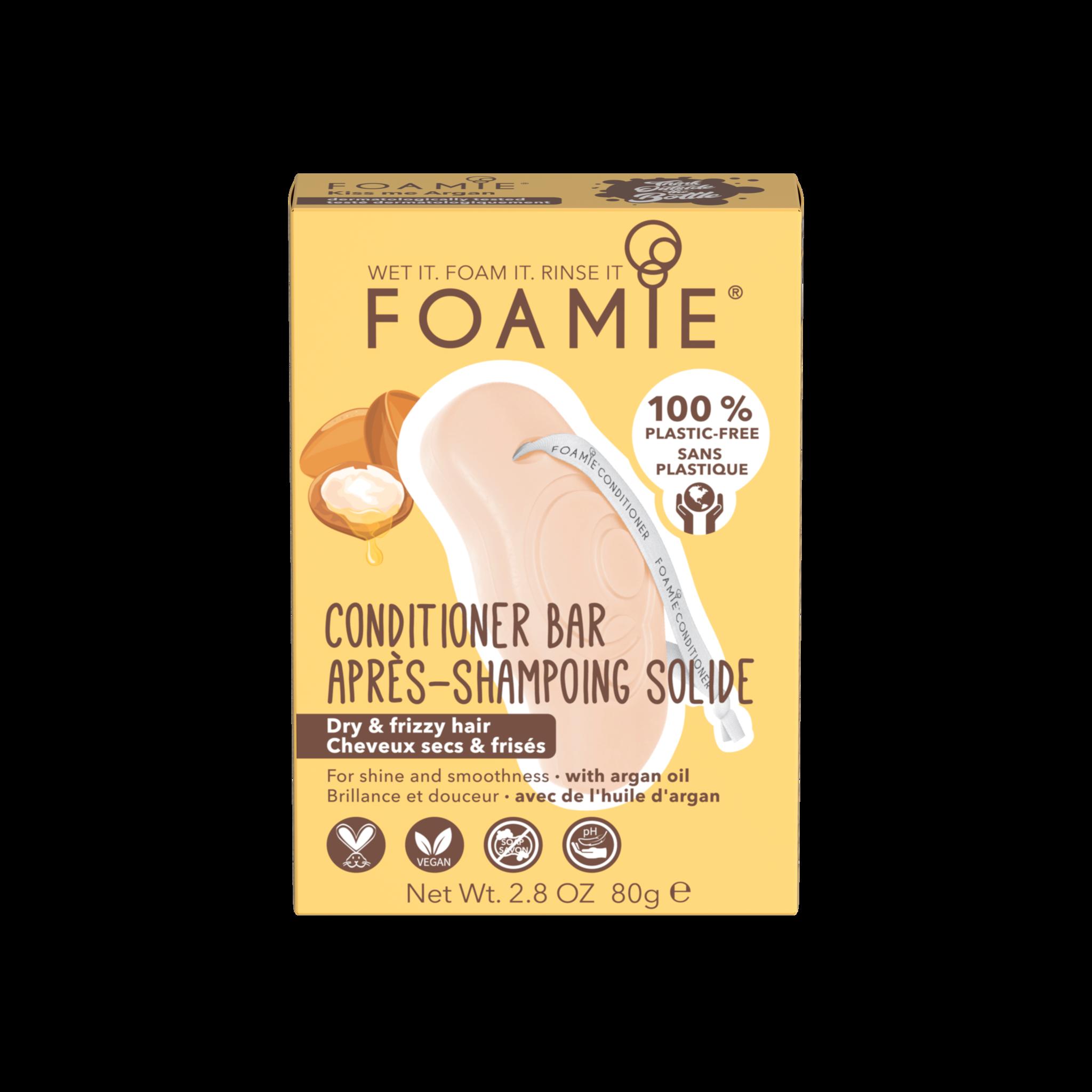 Foamie Conditioner en Barre Kiss Me Argan (Cheveux secs et frisés)