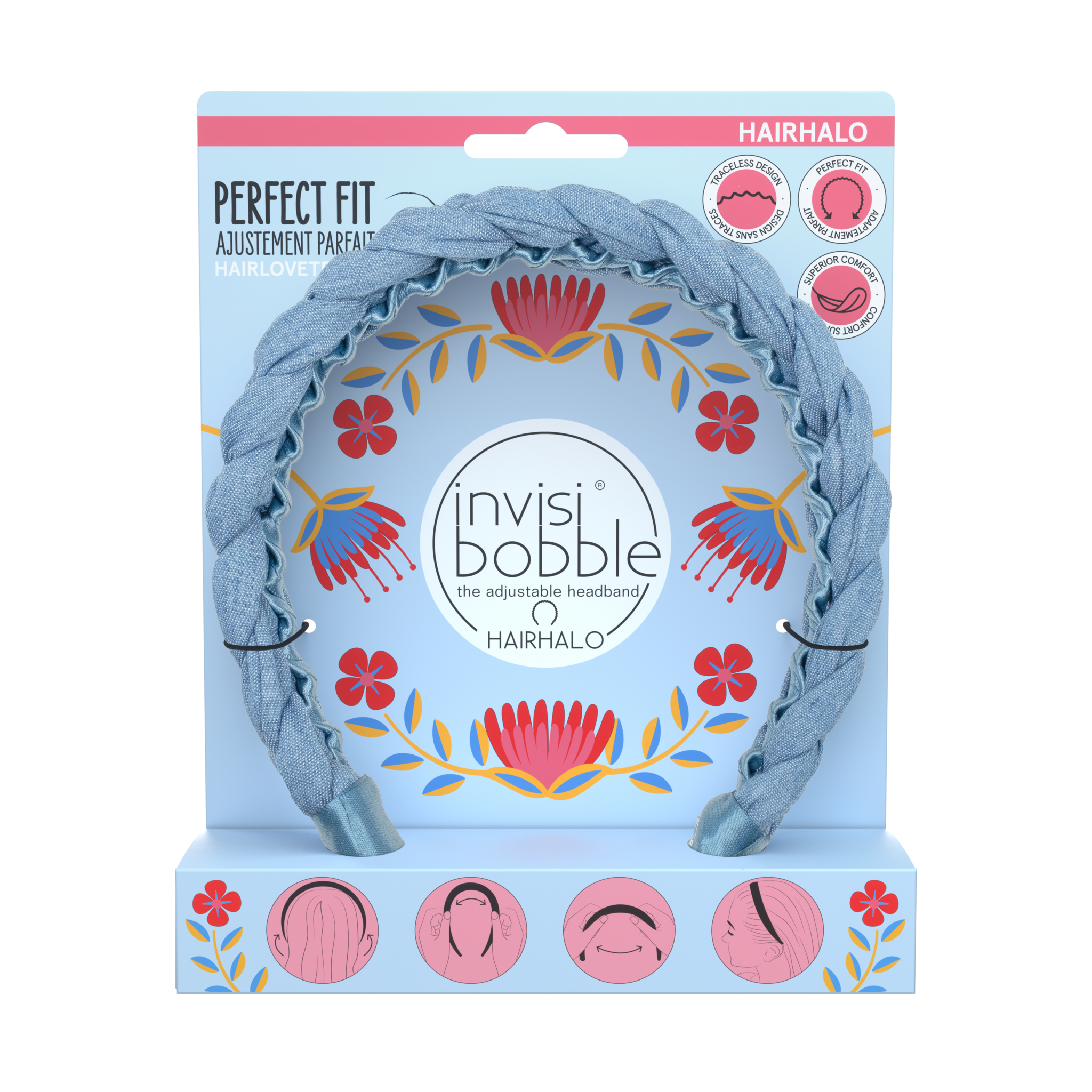 invisibobble® FLORES & BLOOM – HAIRHALO - MARGARITA BONITA
