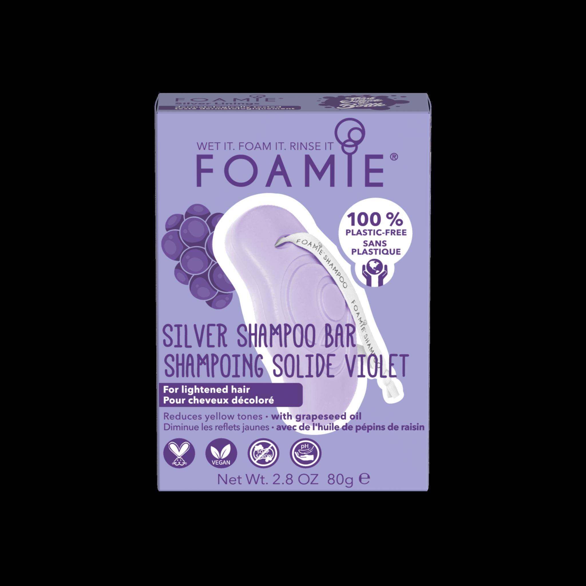 Foamie Shampooing en Barre  Silver Linings (Cheveux Blonds)