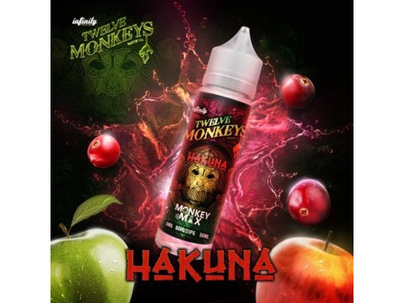 Hakuna Overdosed Liquid 50ml - Twelve Monkeys