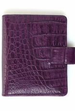 Kalpa Kalpa Pocket - Junior organizer Crocoprint paars - leer