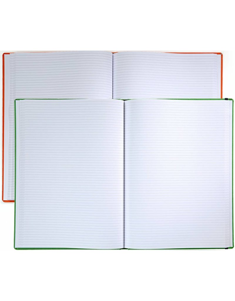 7126 - 2 A4 notitieboekjes Praga Orange enGreen