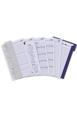 Kalpa 1311-53 Kalpa Junior Pocket Organiser With Paper Fillers, Weekly Planner, Journal, Diary - Croco Burgundy