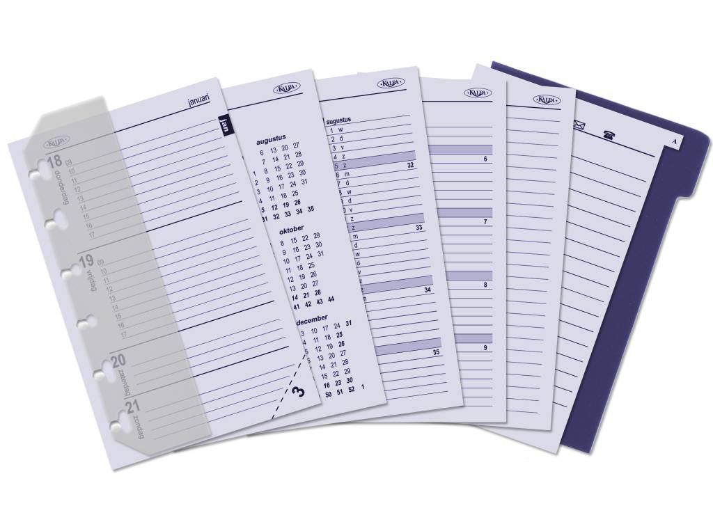 Kalpa 1311-52 Kalpa Junior Pocket Organiser With Paper Fillers, Weekly Planner, Journal, Diary - Croco Black