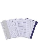 Kalpa 1311-Z Kalpa Junior Pocket Organiser Handmade Leather With Paper Fillers, Journal, Diary - Chennai Black